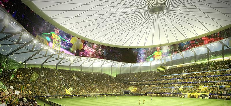 FCナントが新スタジアムのデザインを発表